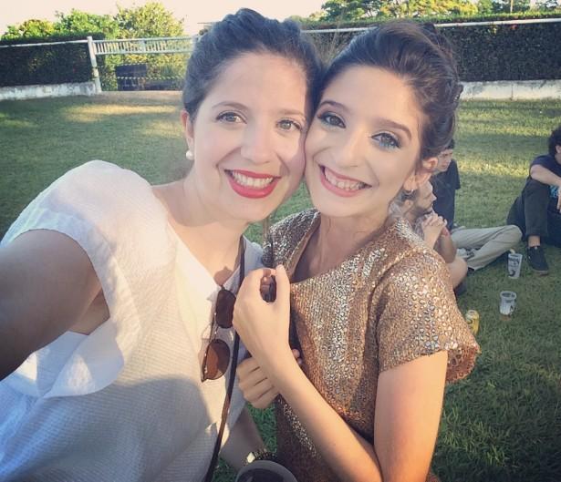 Clarice e a irmã, Sofia, no festival Coquetel Molotov